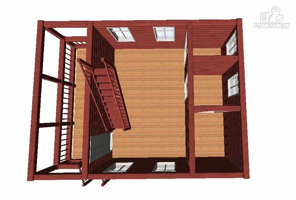 Фото 6: проект гостевой домик-баня 6х8 из бруса