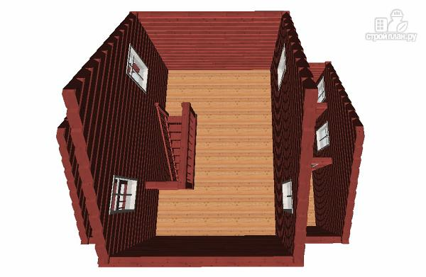 Фото 8: проект гостевой домик-баня 6х8 из бруса