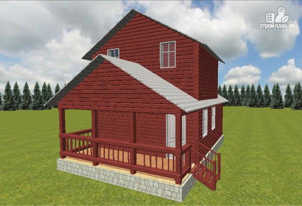 Фото 2: проект гостевой домик-баня 6х8 из бруса