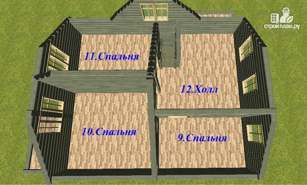 Фото 9: проект дом из бруса 7х9