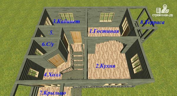 Фото 8: проект дом из бруса 7х9