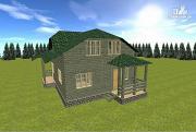 Проект дом из бруса 7х9