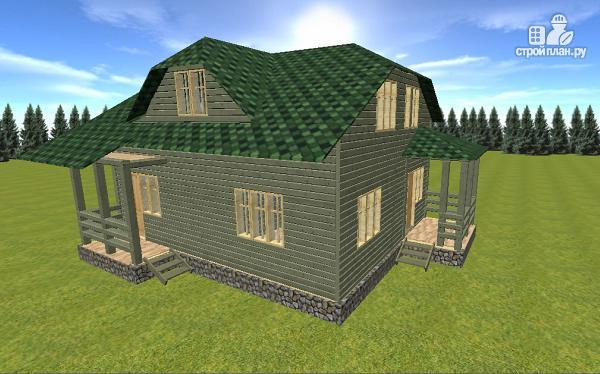Фото 2: проект дом из бруса 7х9