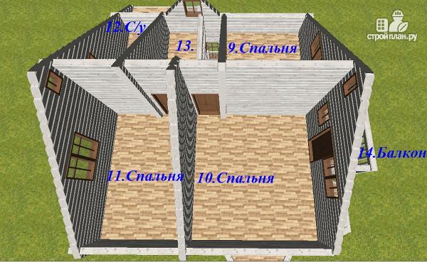 Фото 10: проект дом из бруса 9х8