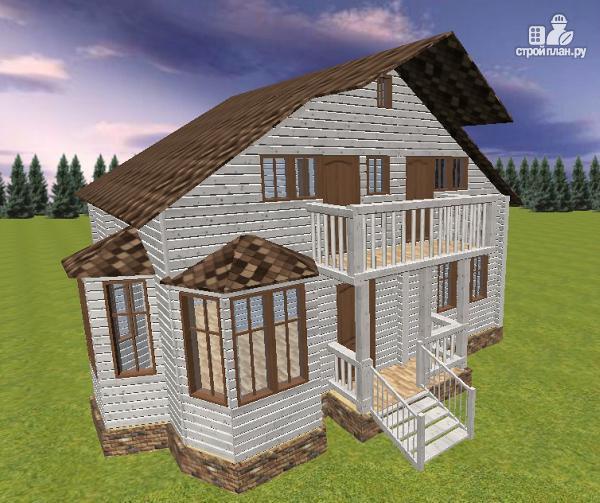 Фото 4: проект дом из бруса 9х8