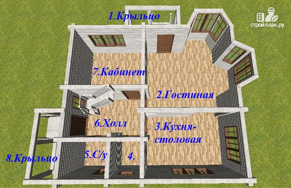 Фото 9: проект дом из бруса 9х8