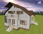 Проект дом из бруса 9х8