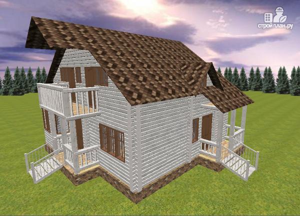 Фото 2: проект дом из бруса 9х8