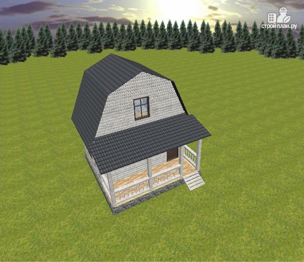 Фото 5: проект дом из бруса 6х4