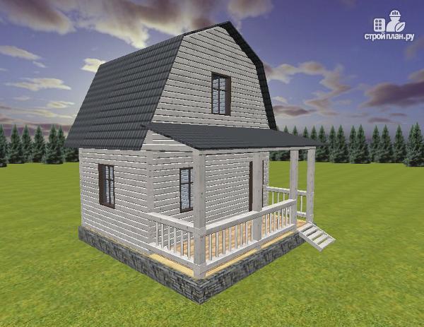 Фото: проект дом из бруса 6х4