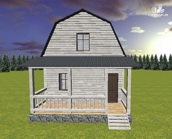 Фото 2: проект дом из бруса 6х4