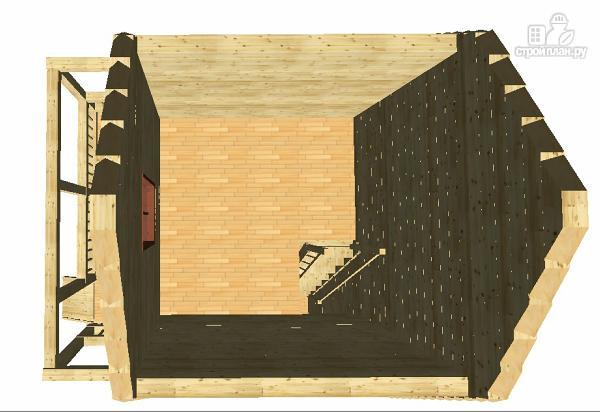 Фото 11: проект дом из бруса 6х4