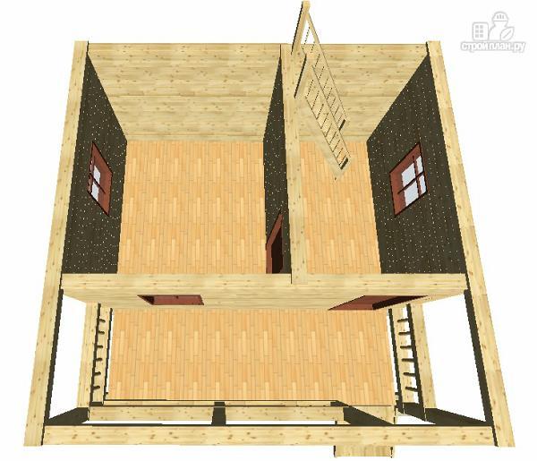 Фото 9: проект дом из бруса 6х4