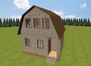 Фото: дом из бруса 6х6