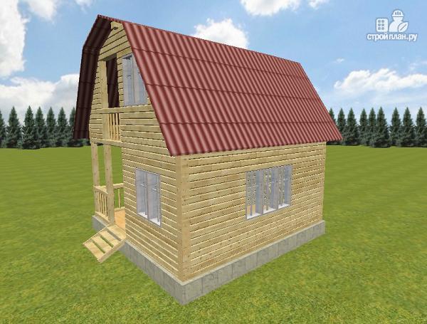 Фото 3: проект дом из бруса 6х6