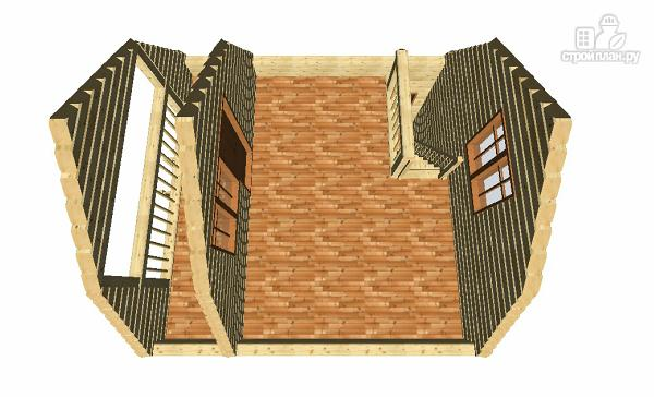 Фото 12: проект дом из бруса 6х6