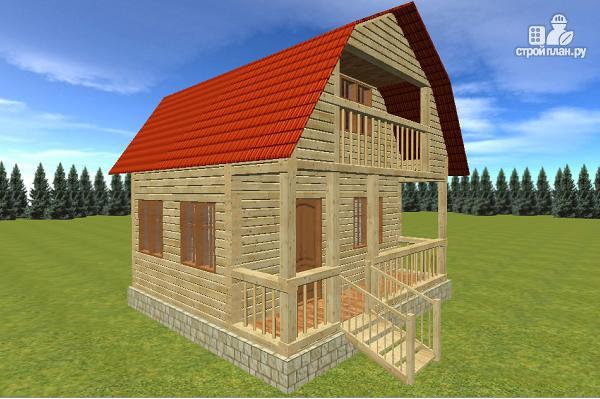 Фото: проект дом из бруса 6х6