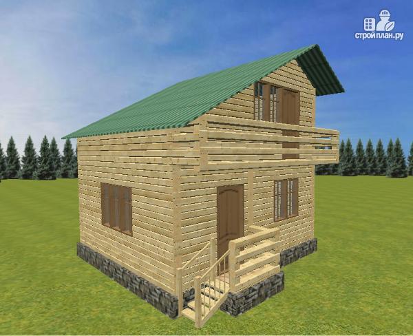 Фото 2: проект дом из бруса 6х6