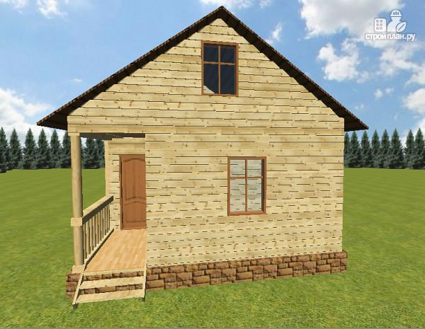 Фото 3: проект дом из бруса 6х6, г-образный
