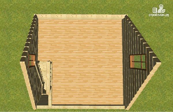 Фото 8: проект дом из бруса 6х6, г-образный