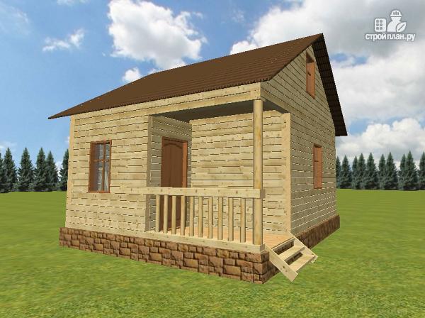Фото 2: проект дом из бруса 6х6, г-образный