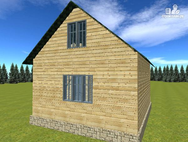 Фото 7: проект дом из бруса 6х6 с балконом
