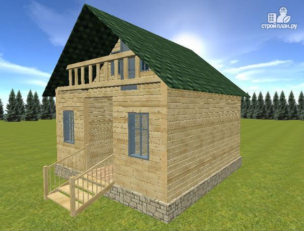 Фото 6: проект дом из бруса 6х6 с балконом