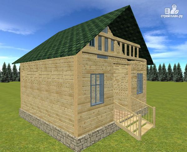 Фото 5: проект дом из бруса 6х6 с балконом