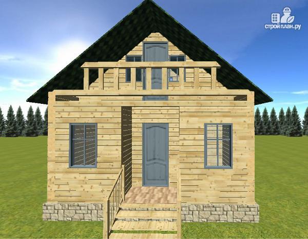 Фото 4: проект дом из бруса 6х6 с балконом