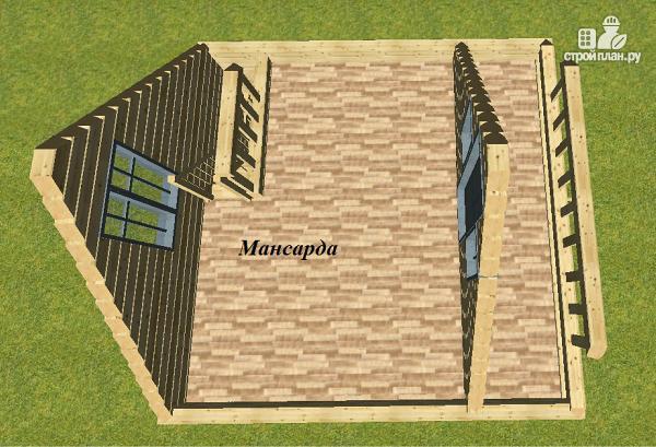 Фото 10: проект дом из бруса 6х6 с балконом