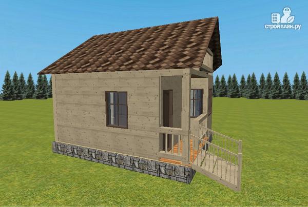 Фото 5: проект дом из бруса 6х6 с террасой и балконом