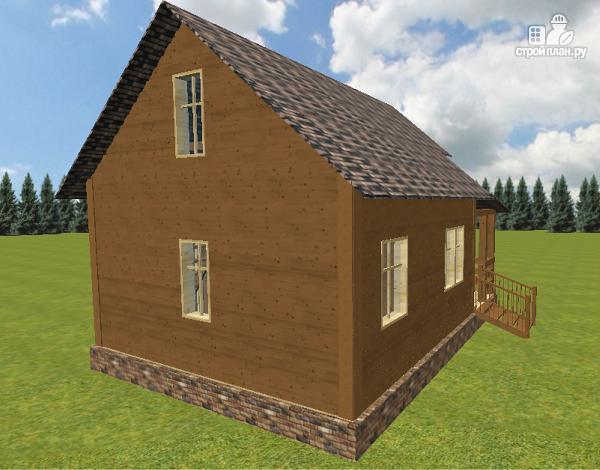 Фото 6: проект дом из бруса 6х6 с большой летней террасой