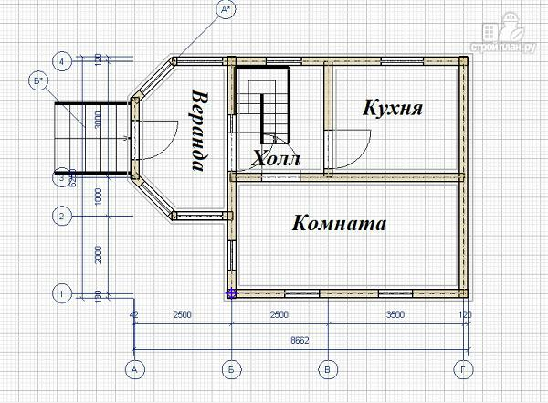 Фото 8: проект дом из бруса 6х6 с эркером