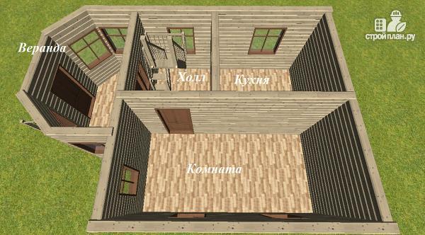 Фото 9: проект дом из бруса 6х6 с эркером