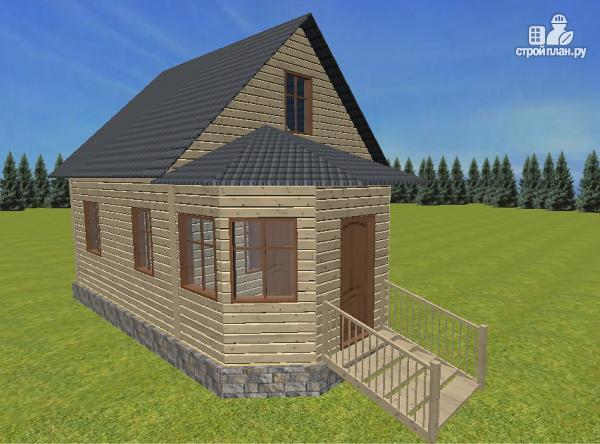 Фото 5: проект дом из бруса 6х6 с эркером