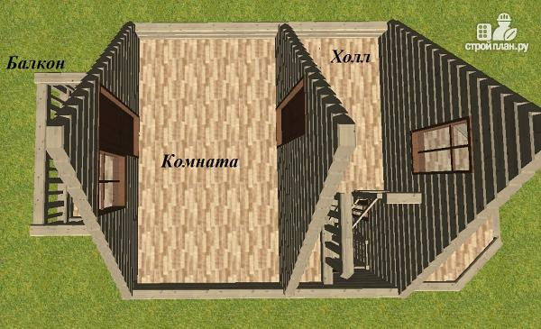 Фото 10: проект дом из бруса 6х6 с эркером
