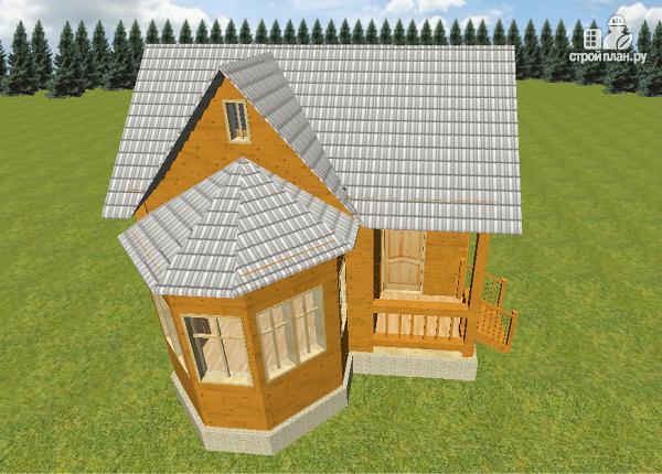 Фото 3: проект дом из бруса 6х6 с эркером в гостиной