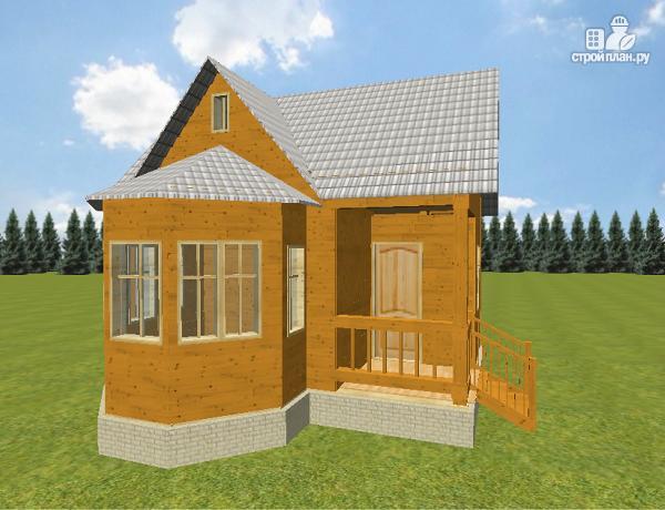 Фото 5: проект дом из бруса 6х6 с эркером в гостиной