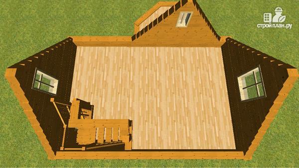 Фото 10: проект дом из бруса 6х6 с эркером в гостиной