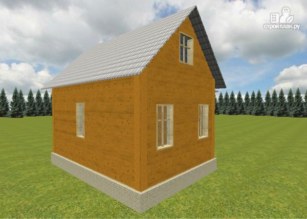 Фото 7: проект дом из бруса 6х6 с эркером в гостиной