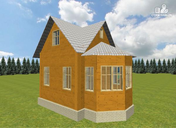 Фото 6: проект дом из бруса 6х6 с эркером в гостиной