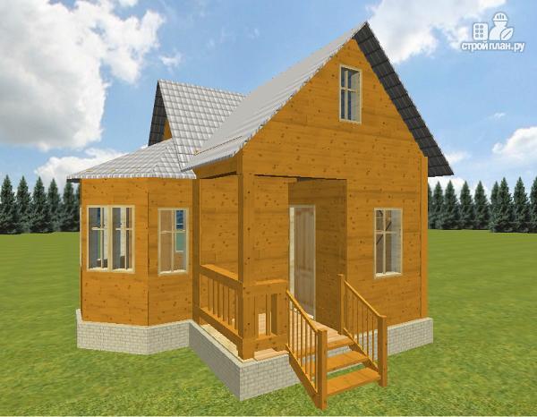 Фото 4: проект дом из бруса 6х6 с эркером в гостиной