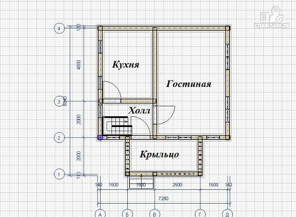 Фото 7: проект дом из бруса 6х7 с террасой и балконом