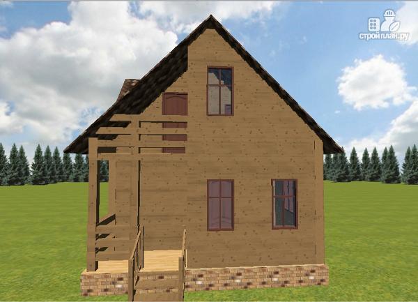 Фото 4: проект дом из бруса 6х7.5 с крыльцом и балконом
