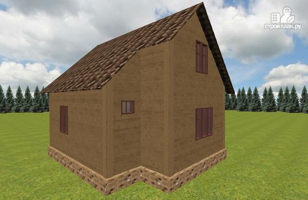 Фото 6: проект дом из бруса 6х7.5 с крыльцом и балконом