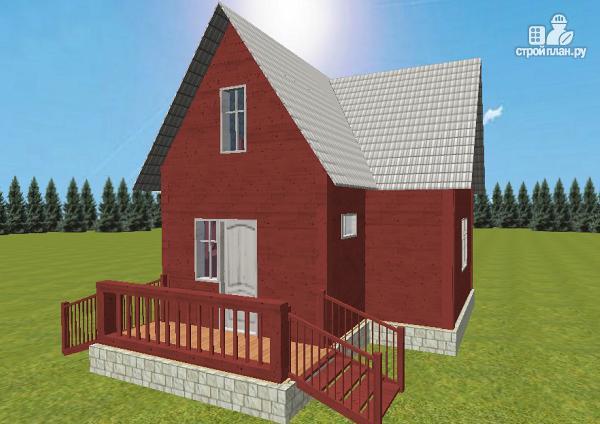 Фото 3: проект дом из бруса 6х8 Т-образный
