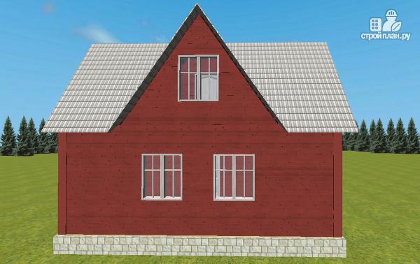 Фото 6: проект дом из бруса 6х8 Т-образный