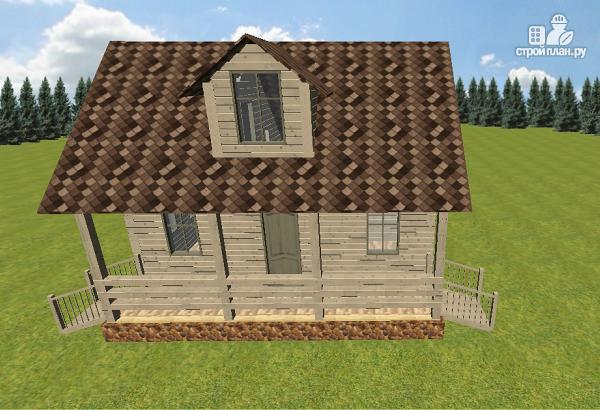 Фото 3: проект дом из бруса 6х8 с террасой