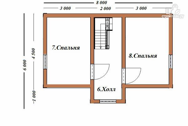 Фото 9: проект дом из бруса 6х8 с террасой