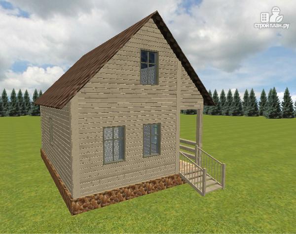 Фото 6: проект дом из бруса 6х8 с террасой